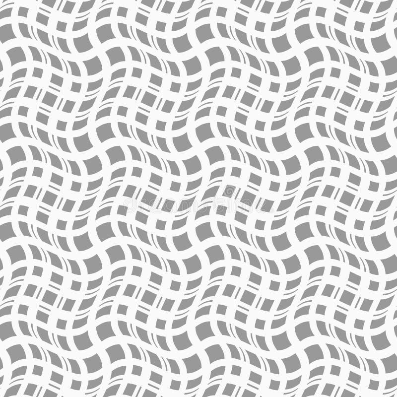 Dünne graue gewellte Quadrate in den verschiedenen Größen lizenzfreie abbildung