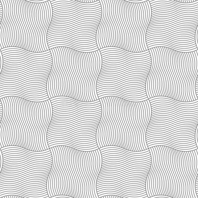 Dünne graue gewellte sriped Quadrate vektor abbildung