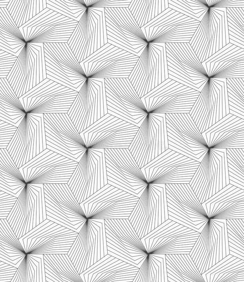 Dünne graue lineare Streifen, die Pyramiden bilden lizenzfreie abbildung