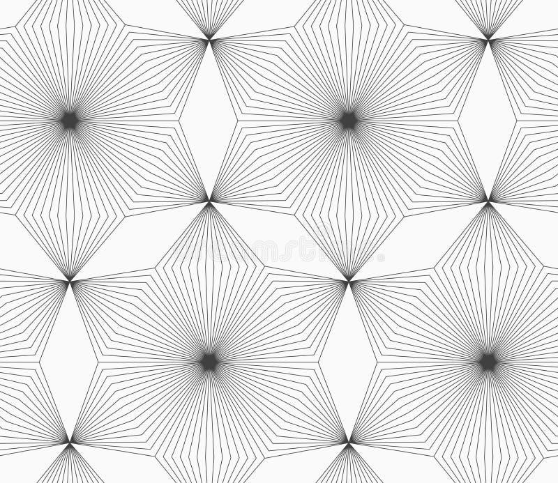 Dünne graue lineare Streifenrautenblumen vektor abbildung