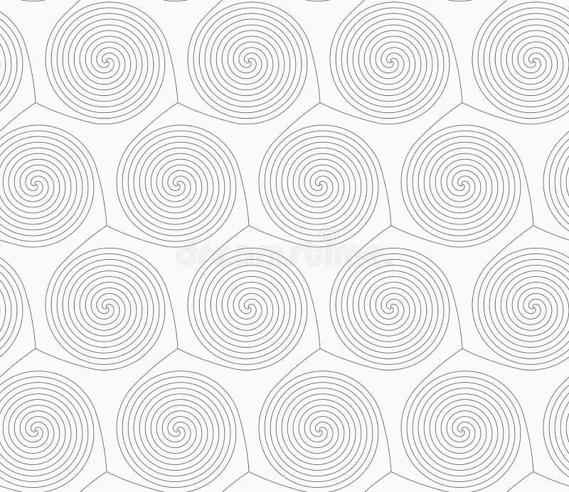 Dünne graue Mischenspiralen lizenzfreie abbildung