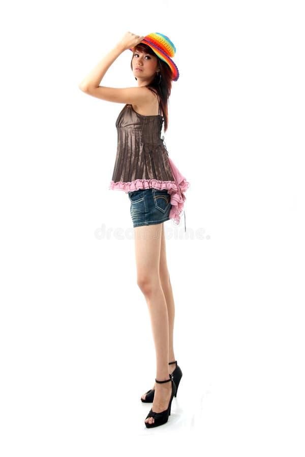 Dünne Karosserienfrau stockbild
