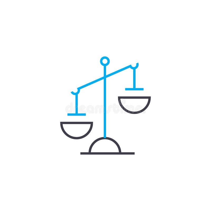Dünne Linie Anschlagikone des Unausgeglichenheitsvektors Unausgeglichenheitsentwurfsillustration, lineares Zeichen, Symbolkonzept vektor abbildung