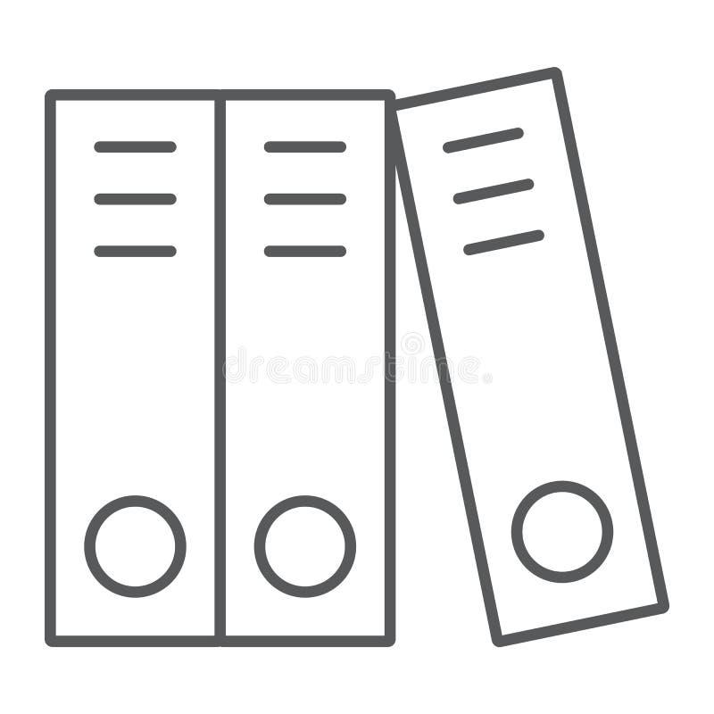 Dünne Linie der Ringmappe Ikone, Büro und Arbeit vektor abbildung