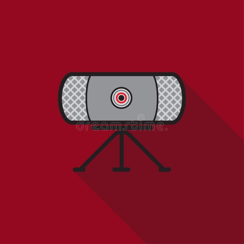 Dünne Linie Farbikone des Webcams vektor abbildung