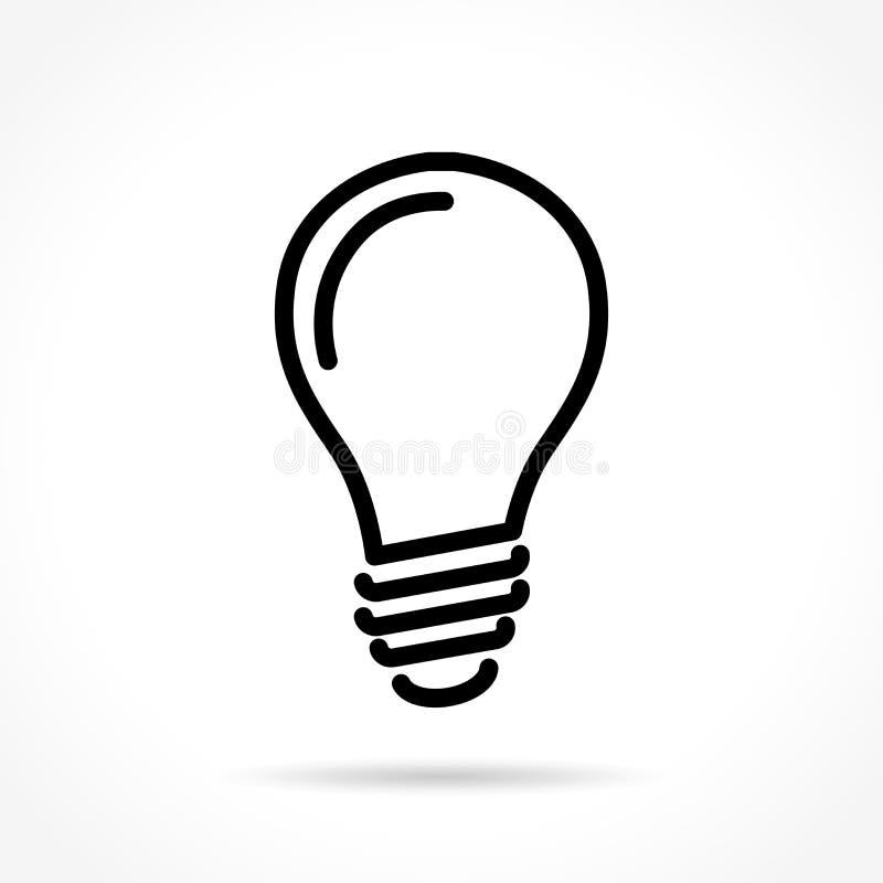 Dünne Linie Ikone der Glühlampe lizenzfreie abbildung
