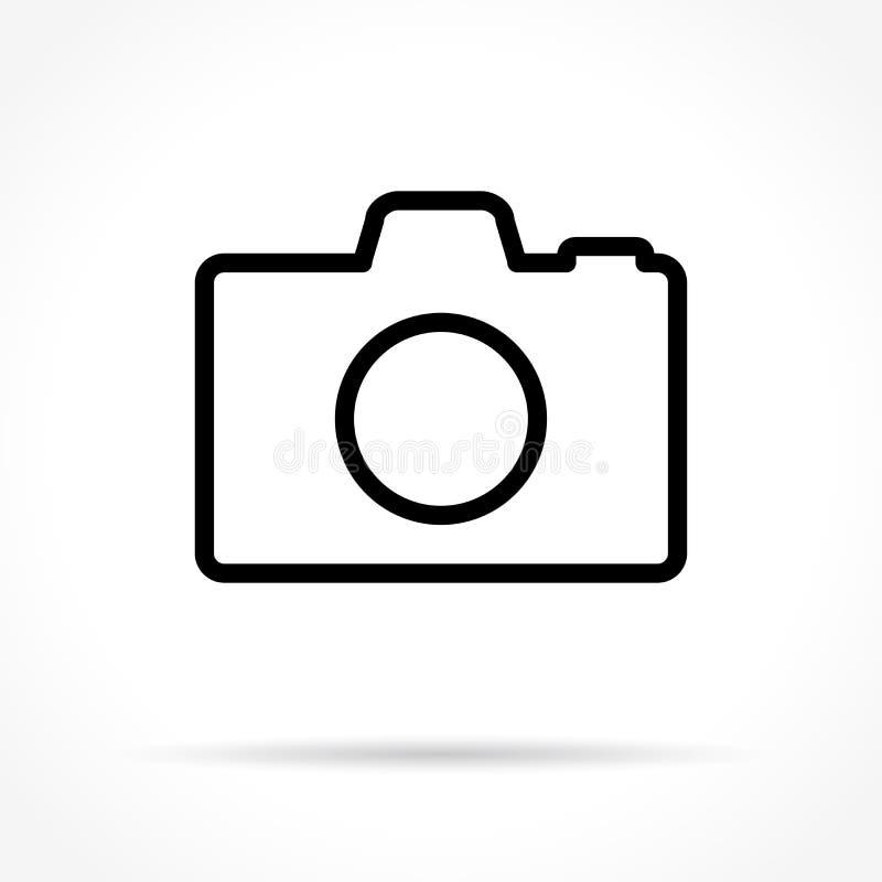 Dünne Linie Ikone der Kamera stock abbildung