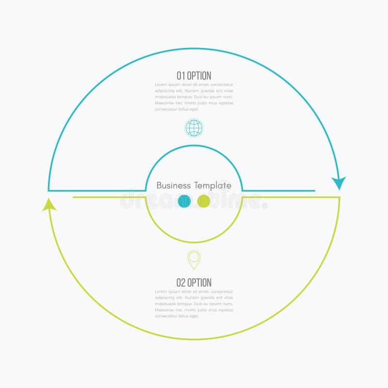 Dünne Linie infographic Element stock abbildung