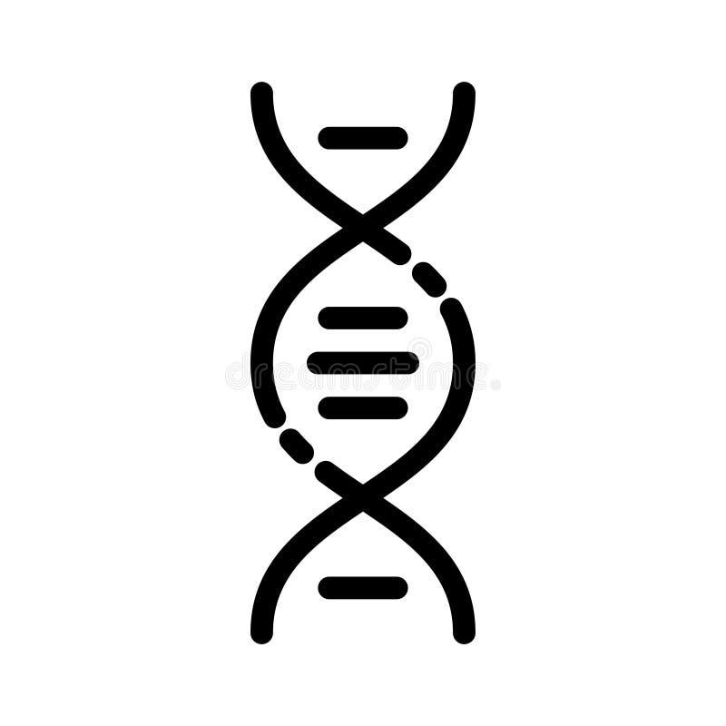 Dünne Linie Vektorikone der Genetik vektor abbildung