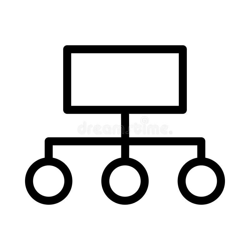 Dünne Linie Vektorikone der Hierarchie lizenzfreie abbildung