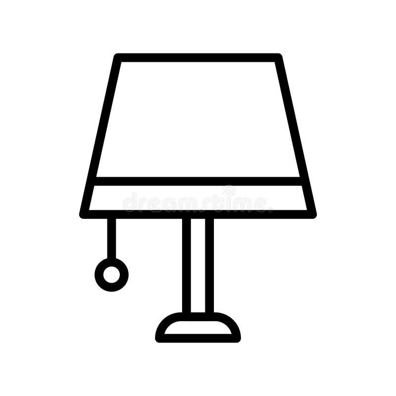 Dünne Linie Vektorikone der Lampe vektor abbildung