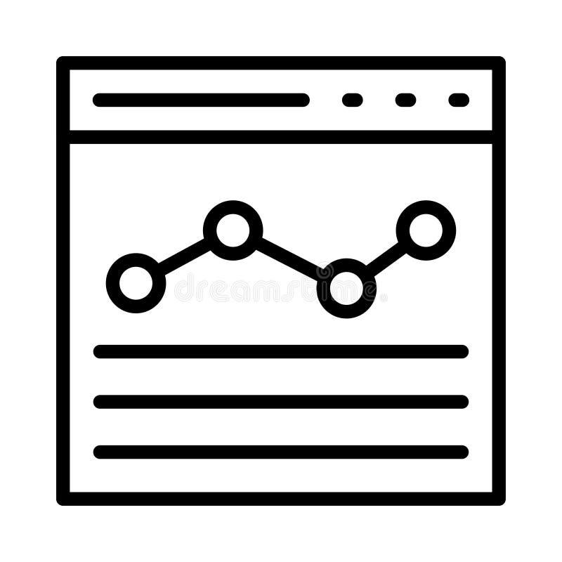Dünne Linie Vektorikone des Browsers lizenzfreie abbildung