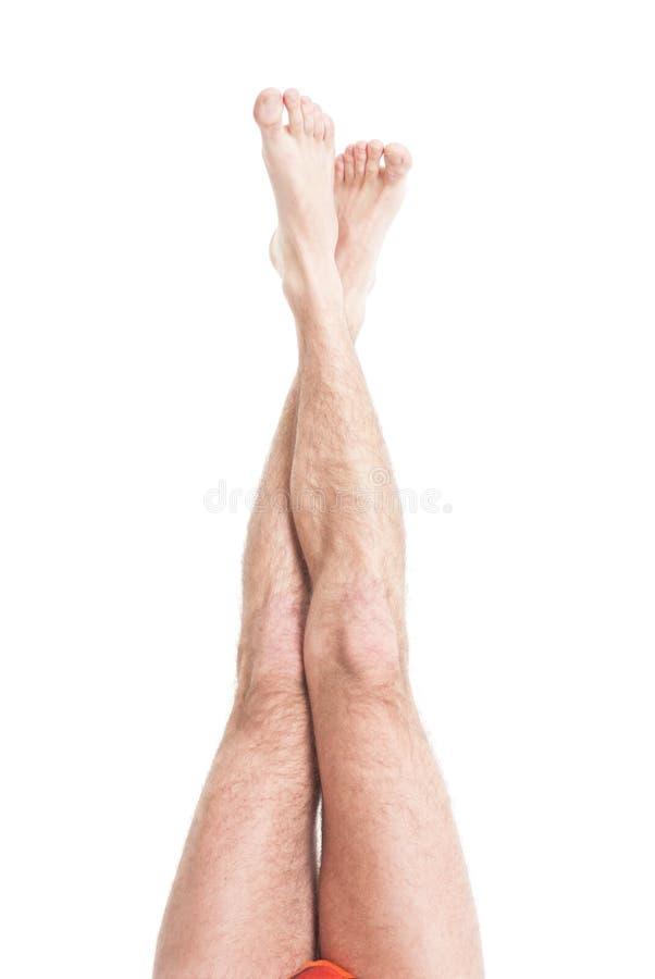 Dünne männliche Fahrwerkbeine lizenzfreies stockbild