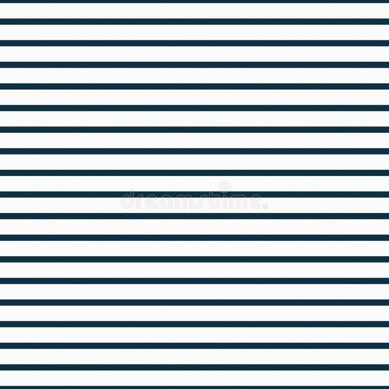 Dünne Marine-Blau-und weißehorizontale gestreifte strukturierte Gewebe-Rückseite lizenzfreies stockfoto