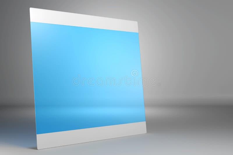 Dünne mobile Tablette auf grauem Hintergrund lizenzfreie abbildung