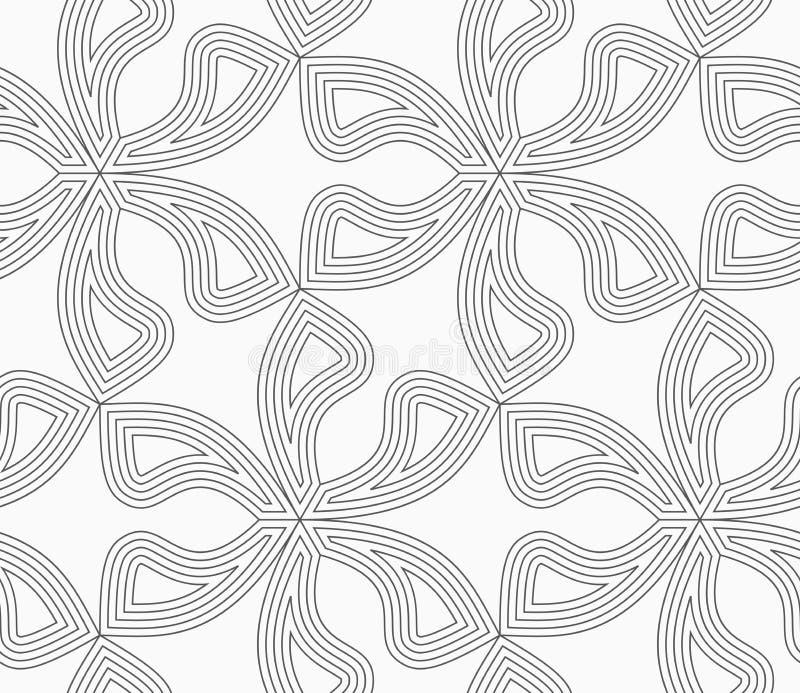 Dünne Pedalblumen des Graus sechs mit Ausgleich lizenzfreie abbildung