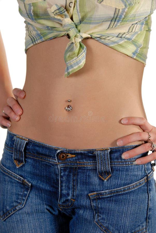 Dünner aktiver Magen des Baumusters lizenzfreie stockbilder
