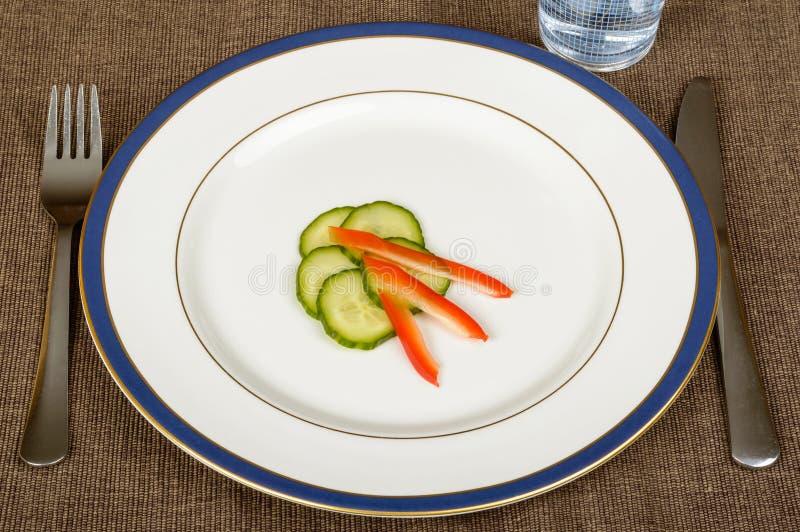 Dünner Teller für das Nähren stockbilder
