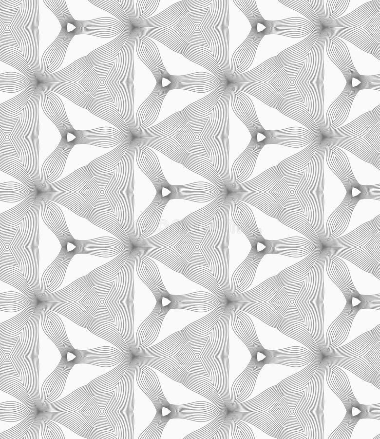 Dünnes Grau ausgebrüteter kleiner Klee und Dreiecke vektor abbildung