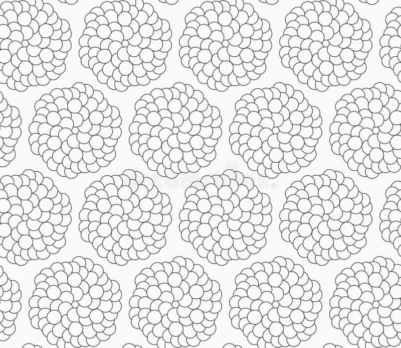 Dünnes Grau viele eln Blumen rad lizenzfreie abbildung