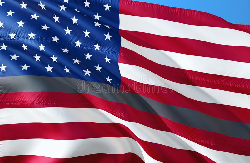 Dünnes Grey Line Flag für Korrektur-Offiziere Unterstützung für Korrektur-Mittel-Flagge Korrektur-Offizierbeantworter Flaggen des vektor abbildung