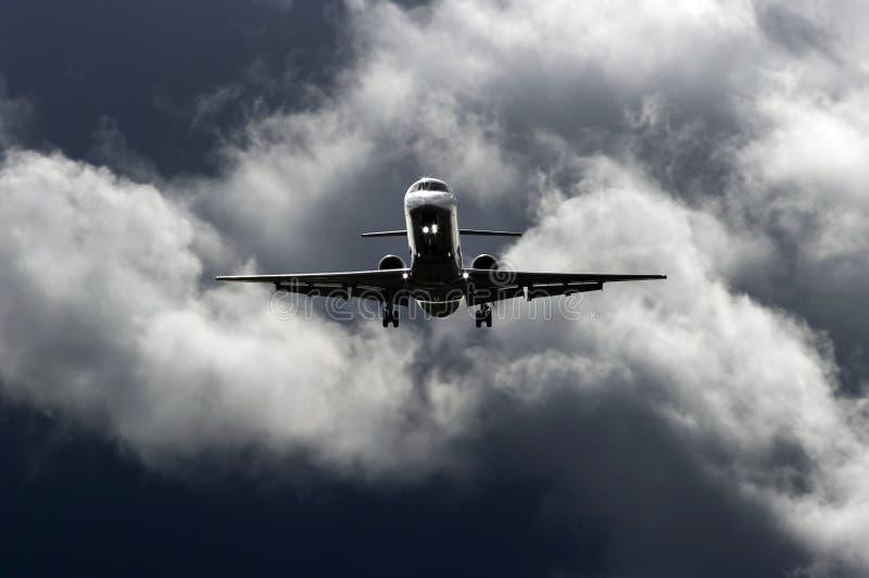 Düsenflugzeug lizenzfreies stockfoto