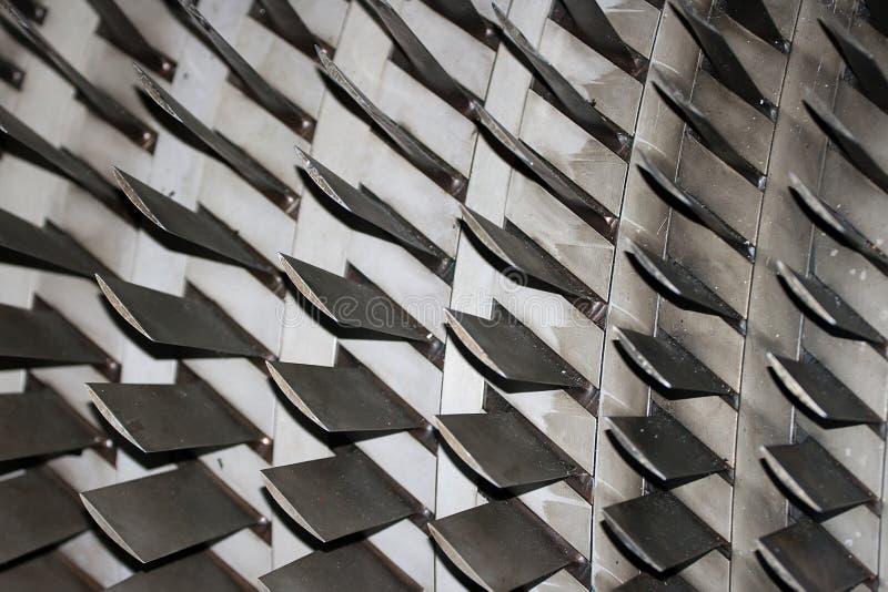 Düsentriebwerkblätter stockfoto