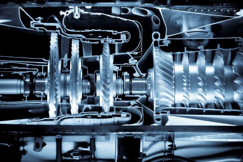 Düsentriebwerkcutaway stockfoto