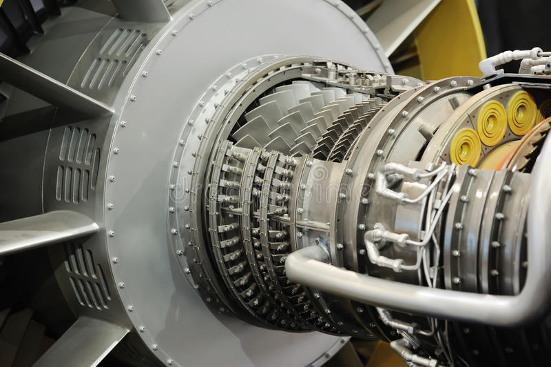 Düsentriebwerkdetail lizenzfreies stockbild