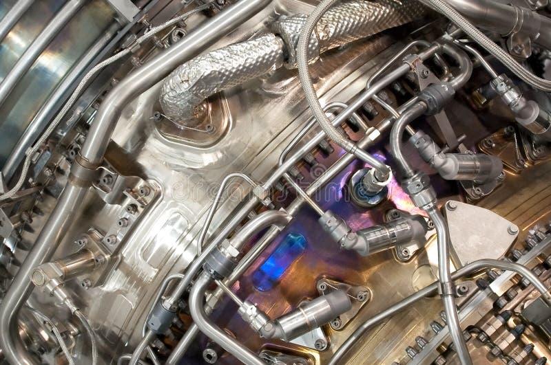 Düsentriebwerkhydraulik lizenzfreie stockfotos