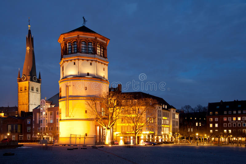 Düsseldorf Altstadt fotografía de archivo libre de regalías