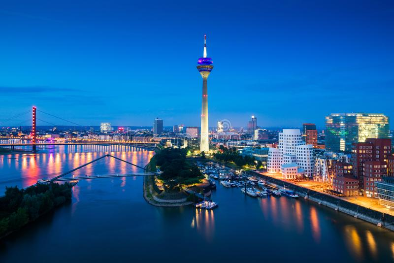 Düsseldorf Medienhafen in Germany stock photos