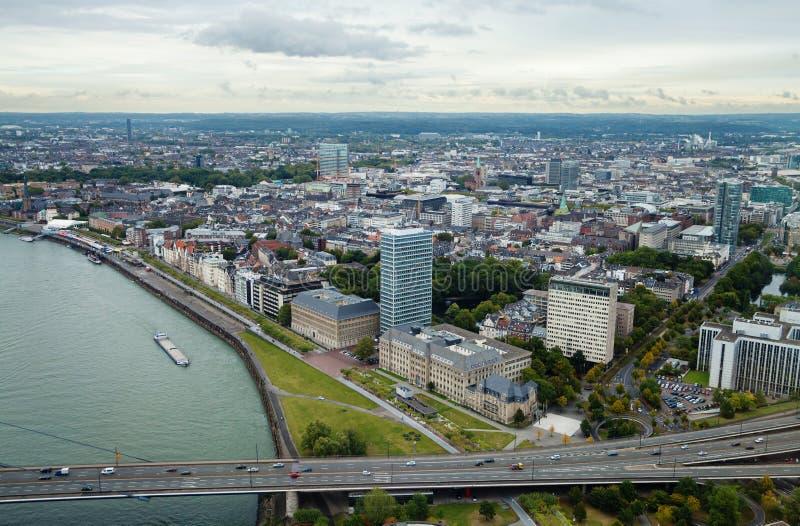 Düsseldorf desde arriba imagen de archivo