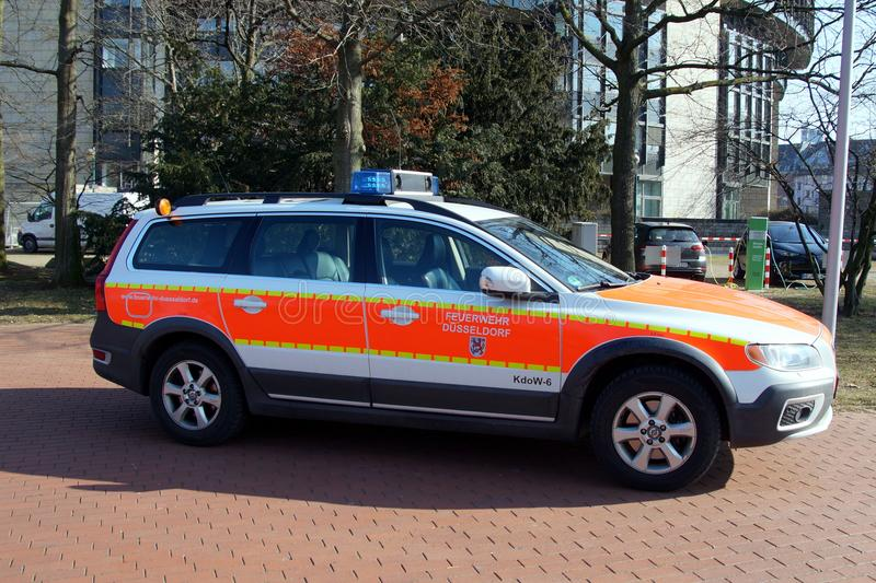 Volvo XC 70 Feuerwehr Düsseldorf command car stock images