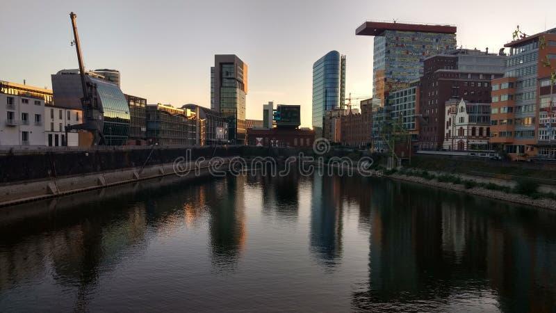 Düsseldorf Medien Hafen stock photo