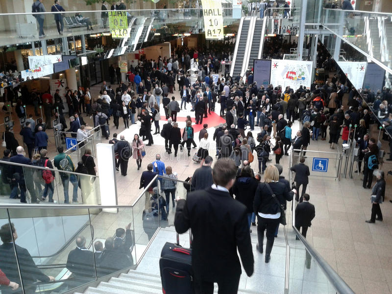 Düsseldorf Retail Trade Fair royalty free stock photo