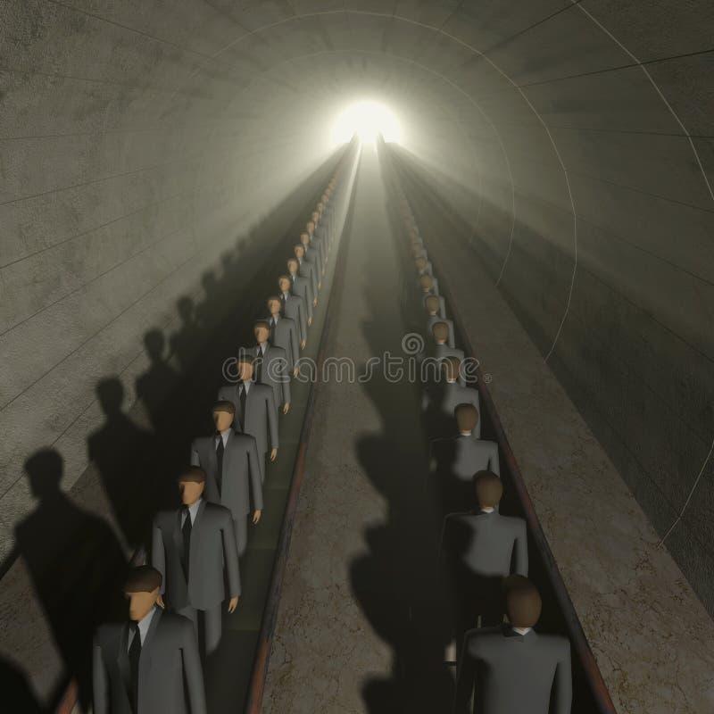 Download Düstere Leute Auf Beweglichem Treppenhaus Stock Abbildung - Illustration von unterirdisch, baumuster: 12201006
