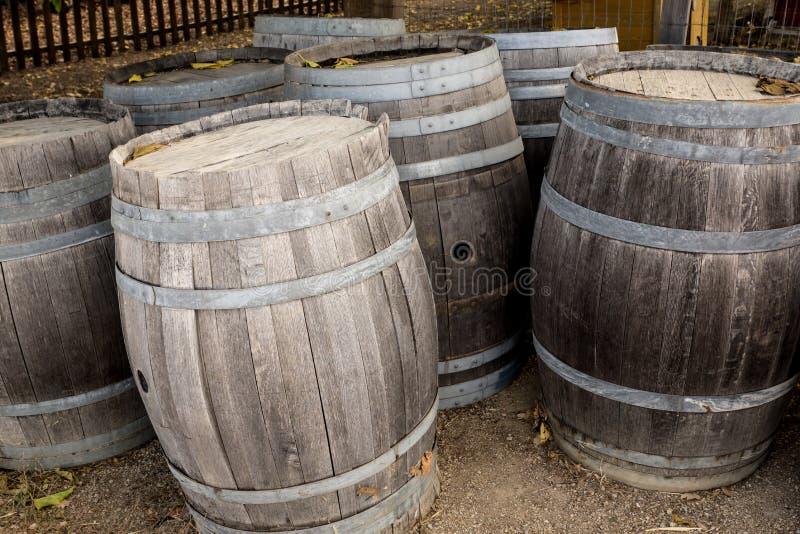 Dębowe wino baryłki zdjęcie royalty free