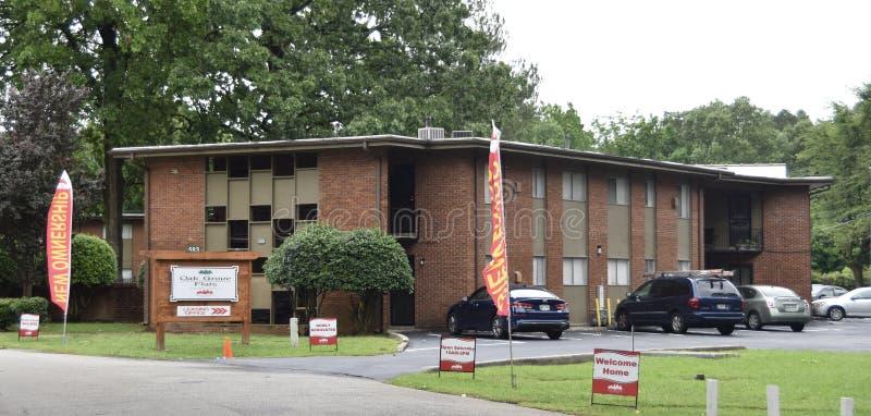 Dębowi gajów mieszkań mieszkania domy, Memphis, TN fotografia royalty free