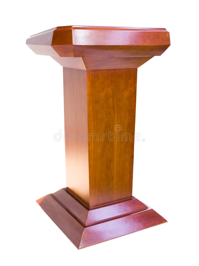 dębowy podium obraz royalty free