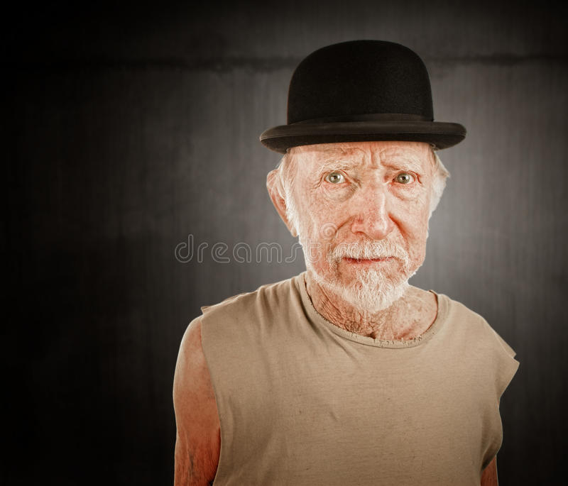 dęciaka mężczyzna szalony kapeluszowy zdjęcia royalty free