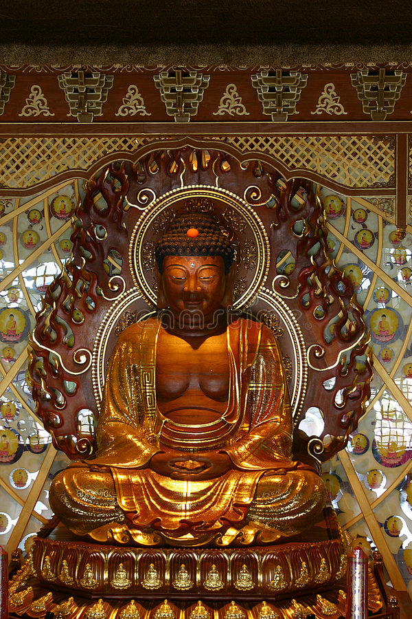 dłoni buddy świątyni obraz stock