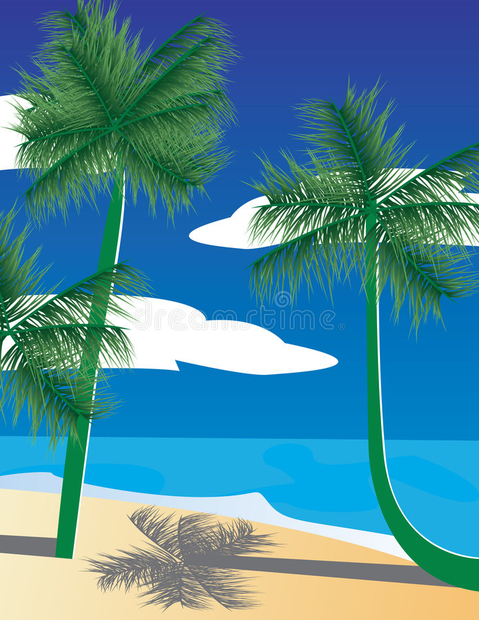 dłonie krajobrazowe tropikalne ilustracja wektor
