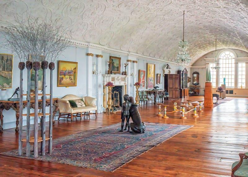 Długa galeria, Burton Agnes Hall, Yorkshire, Anglia obrazy royalty free