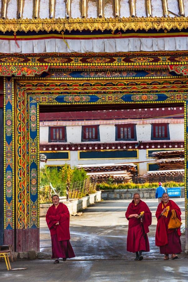 Długa młodości Cole świątynia w Litang okręgu administracyjnym, Chiny obraz stock