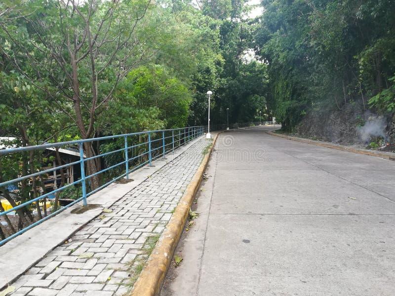 Długa pusta droga rodzina park obrazy stock