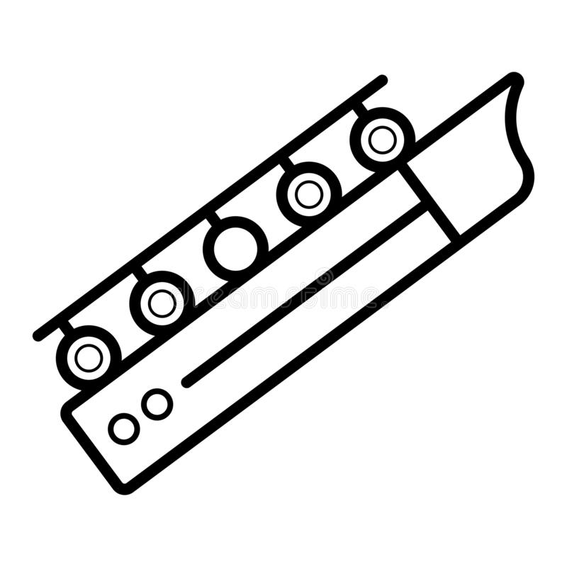 Długa sackbut dutki ikona royalty ilustracja