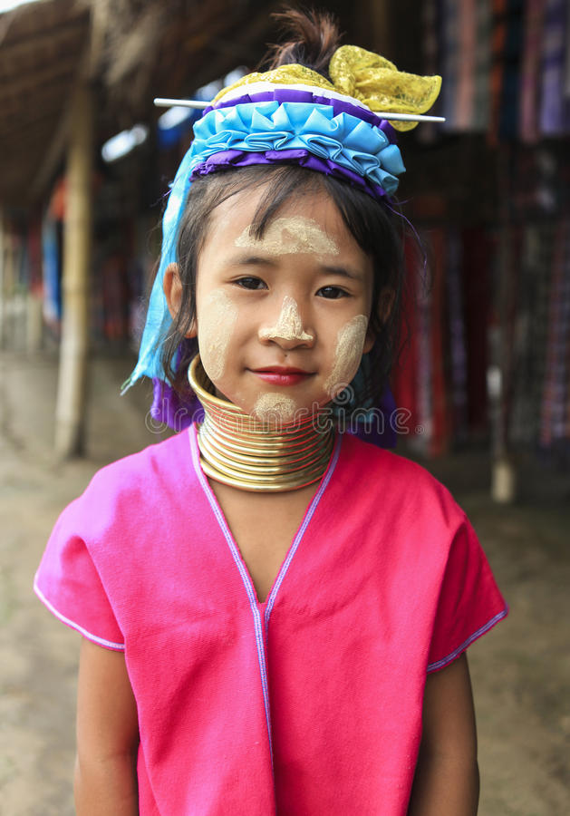 Długa szyja Karen w Chiang Mai fotografia royalty free