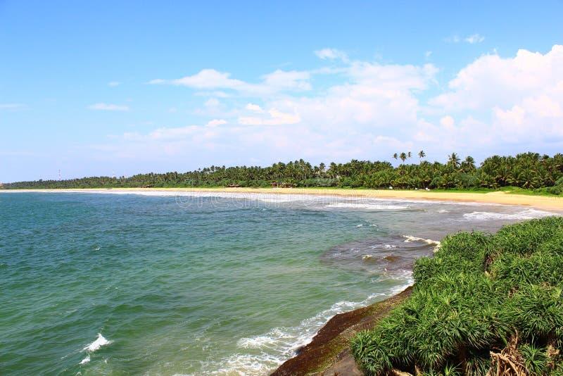 Długa, uncrowded plaża Bentota, fotografia royalty free