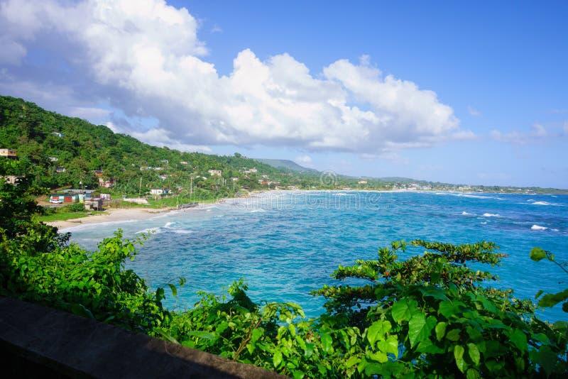 Długa zatoki plaża w Portland, Jamajka fotografia stock
